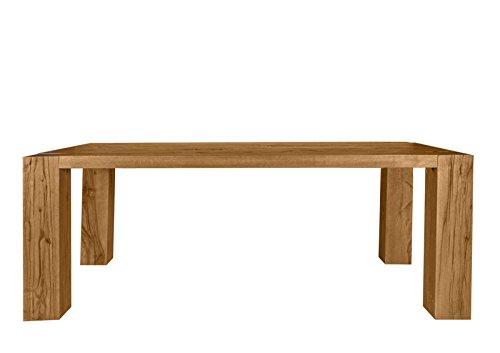 Table Finish: Oiled Size: 77cm H x 180 cm W x 110cm D